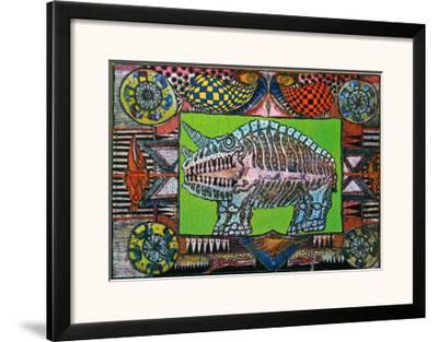 Dream of the Rhino, c.1970-J?rg Schulthess-Framed Art Print