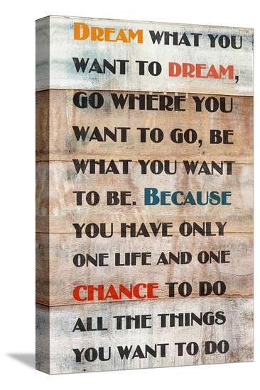 Dream What You Want To Dream--Stretched Canvas Print