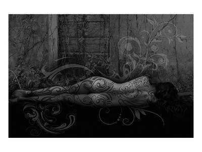 Dreamer in the Garden-Rosa Mesa-Art Print