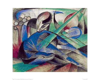 Dreaming horse-Franz Marc-Giclee Print