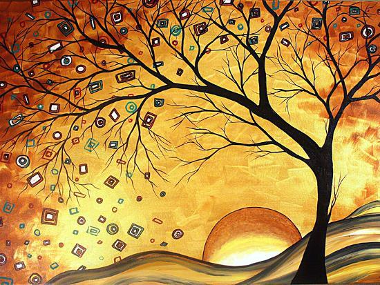 Dreaming in Gold-Megan Aroon Duncanson-Art Print
