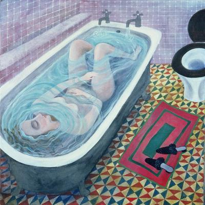 Dreaming in the Bath, 1991-Lucy Raverat-Giclee Print