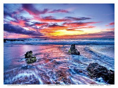 Dreaming of Hawaii: Hawaiian Beach Sunset-Randy Jay Braun-Art Print