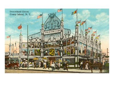 Dreamland Circus, Coney Island, New York City--Art Print