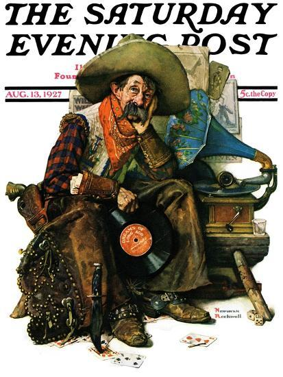 """""""Dreams of Long Ago"""" Saturday Evening Post Cover, August 13,1927-Norman Rockwell-Giclee Print"""