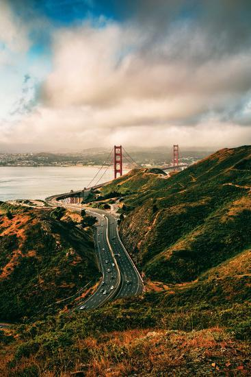 Dreamy Clouds Over The City, Golden Gate Bridge, San Francisco-Vincent James-Photographic Print
