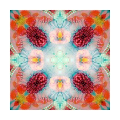 Dreamy Flower Mandala II-Alaya Gadeh-Art Print