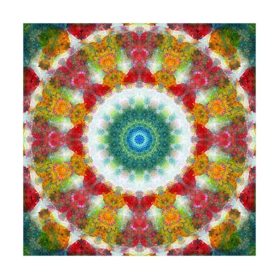 Dreamy Flower Mandala-Alaya Gadeh-Art Print