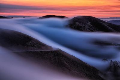 Dreamy Fog Sweep, Marin Headlands at Sunrise, San Francisco-Vincent James-Photographic Print