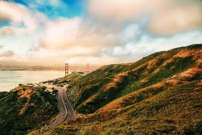 Dreamy Road Into San Francisco, Cloudscape at Golden Gate Bridge-Vincent James-Photographic Print