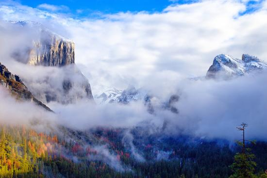 Dreamy Valley, Mist and Fog, El Capitan, Yosemite National Park-Vincent James-Photographic Print