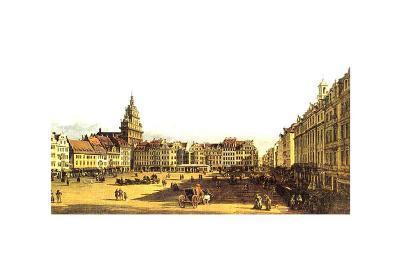 Dresden Altmarkt-Canaletto-Art Print