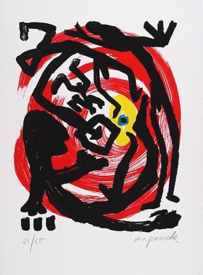 Dresden, c.1992 Blatt 3-A^ R^ Penck-Limited Edition