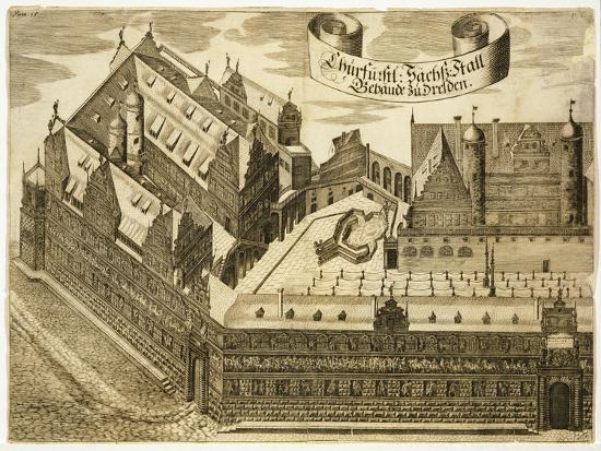 Dresden Castle, Germany 17th Century Print--Giclee Print