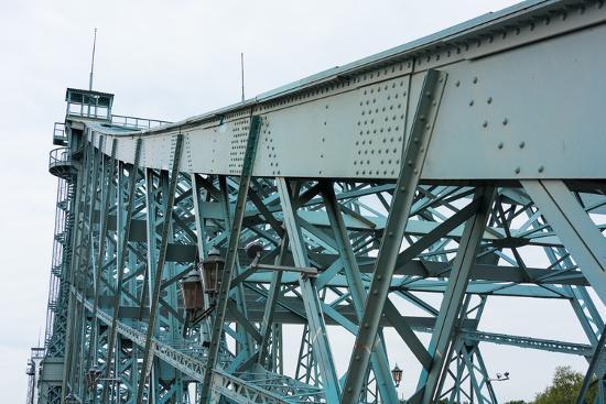 "Dresden, Elbe Cycle Track, Bridge, ""Blue Wonder-Catharina Lux-Photographic Print"