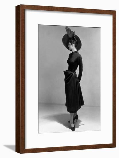 Dress by Christian Dior, 1948 (New Look Style)--Framed Photo