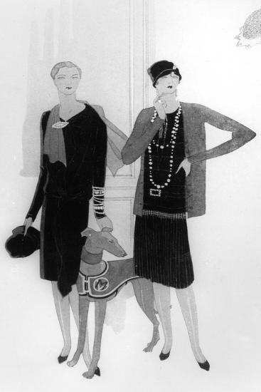 Dress Designs by Chanel, Illustration from 'Vogue' Magazine, 1 April, 1927--Giclee Print