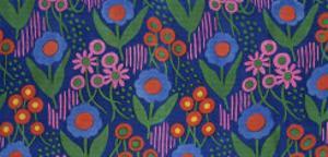 Dress Fabric, Block Printed Satin, France, 1919