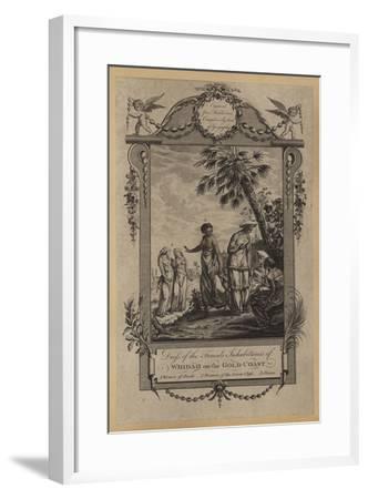 Dress of the Female Inhabitants of Whidah on the Gold-Coast--Framed Giclee Print