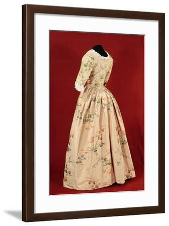 Dress, Woven by Mr.Vantier from a Fabric Design by Anne Maria Garthwaite--Framed Photographic Print