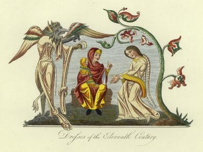 Dresses of the 11th Century--Giclee Print
