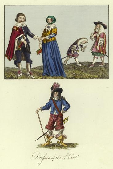 Dresses of the 17th Century--Giclee Print