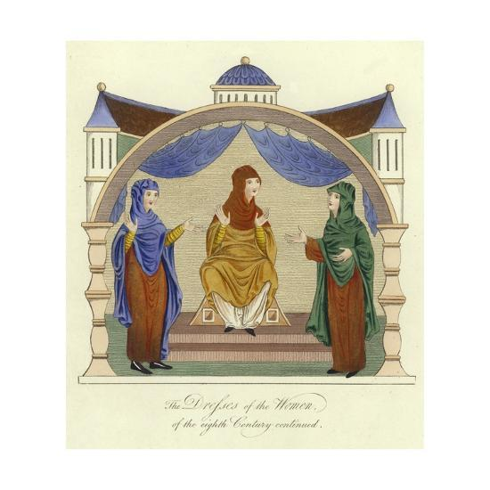 Dresses of the Anglo-Saxon Women of the 8th Century--Giclee Print