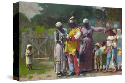 Dressing for the Carnival-Winslow Homer-Stretched Canvas Print