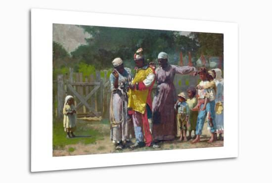 Dressing for the Carnival-Winslow Homer-Metal Print