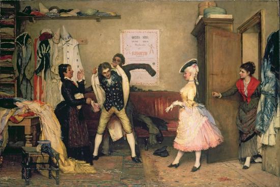 Dressing for the Masquerade-Eugen Von Blaas-Giclee Print