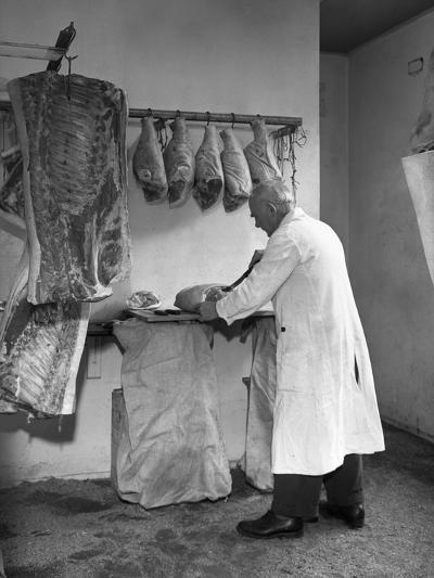 Dressing Meat for Sale, Rawmarsh, South Yorkshire, 1955-Michael Walters-Photographic Print