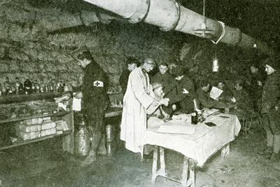 Dressing-Station in the Casemates of Douaumont Fort, C.1916--Photographic Print