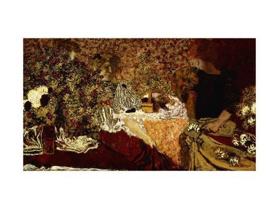 Dressing Table (in the flowers); Le Table de Toilette (Dans le Fleurs)-Edouard Vuillard-Giclee Print