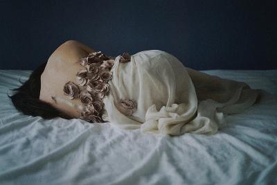 Dressing with Roses-Michalina Wozniak-Photographic Print