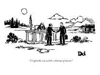 """""""With our lives it's all abut the journey. With our luggage, it's definite?"""" - New Yorker Cartoon-Drew Dernavich-Premium Giclee Print"""