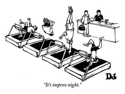 """It's improv night."" - New Yorker Cartoon"
