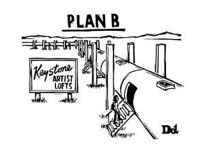 Plan BKeystone pipeline has been converted into artist lofts - New Yorker Cartoon by Drew Dernavich