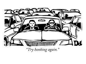 """""""Try honking again."""" - New Yorker Cartoon by Drew Dernavich"""