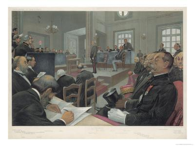 Dreyfus Stands Trial Again at Rennes- Guth-Giclee Print