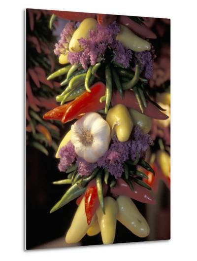 Dried Jalepeno Peppers and Garlic at Pike Place Market, Seattle, Washington, USA-John & Lisa Merrill-Metal Print