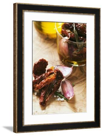 Dried Tomatoes, Rosemary, Garlic, Salt and Olive Oil-Foodcollection-Framed Photographic Print