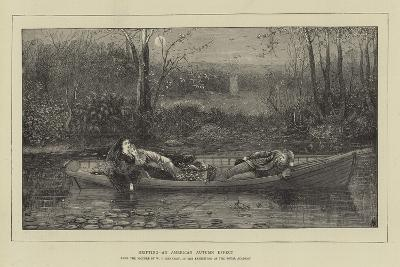 Drifting, an American Autumn Effect-William John Hennessy-Giclee Print