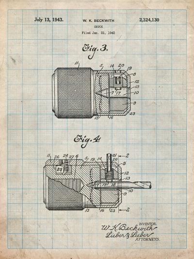 Drill Chuck 1943 Patent-Cole Borders-Art Print
