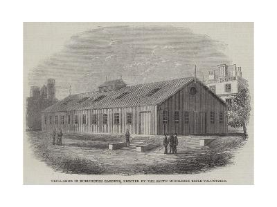 Drill-Shed in Burlington Gardens, Erected by the South Middlesex Rifle Volunteers--Giclee Print