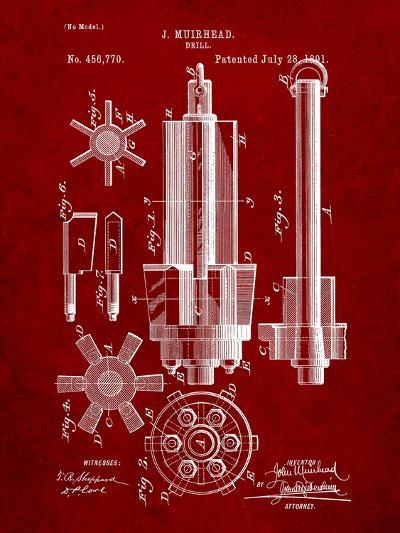 Drill Tool Patent-Cole Borders-Art Print