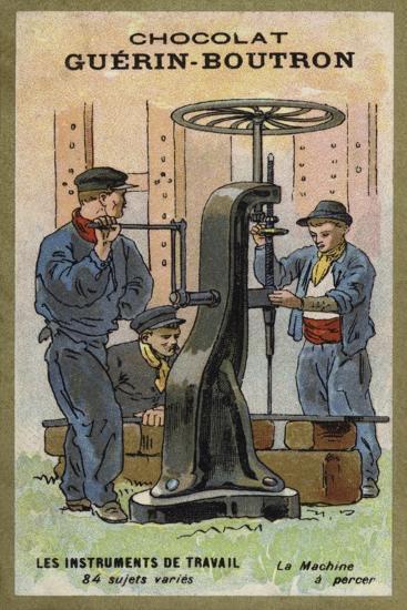 Drilling Machine--Giclee Print