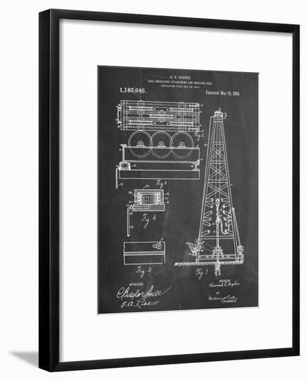 Drilling Rig Patent--Framed Art Print