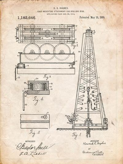 Drilling Rig Patent-Cole Borders-Art Print