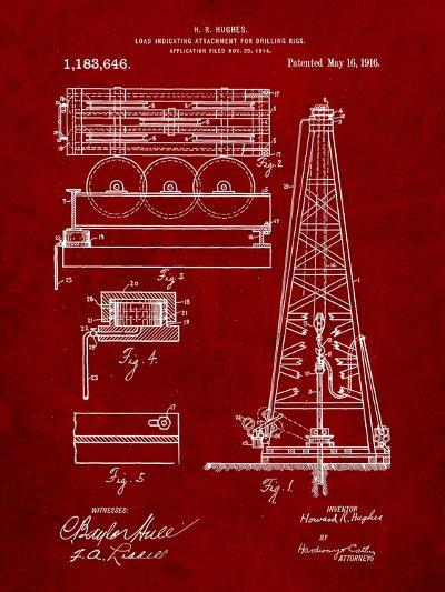 Drilling Rig Patent-Cole Borders-Art Print