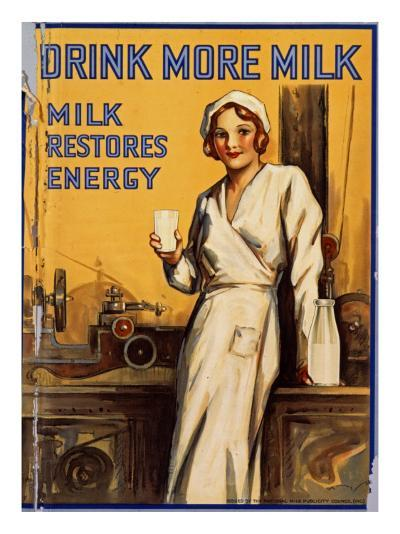 Drink More Milk Poster--Giclee Print